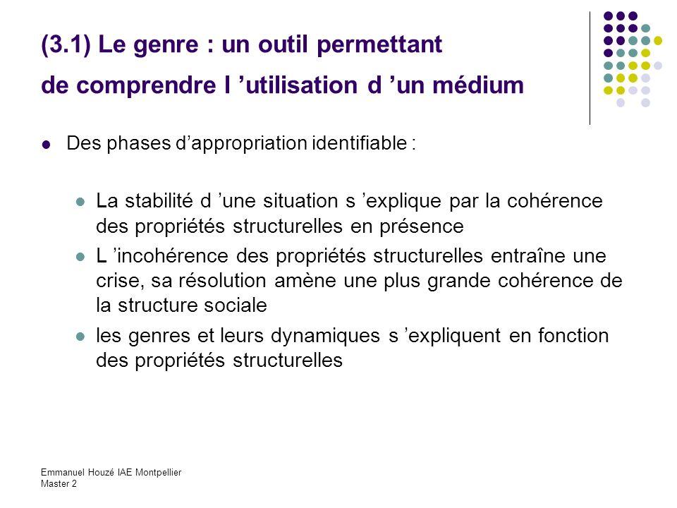 (3.1) Le genre : un outil permettant de comprendre l 'utilisation d 'un médium