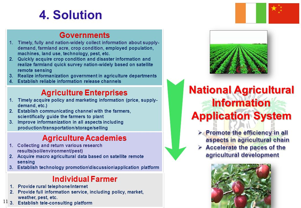4. Solution National Agricultural Information Application System