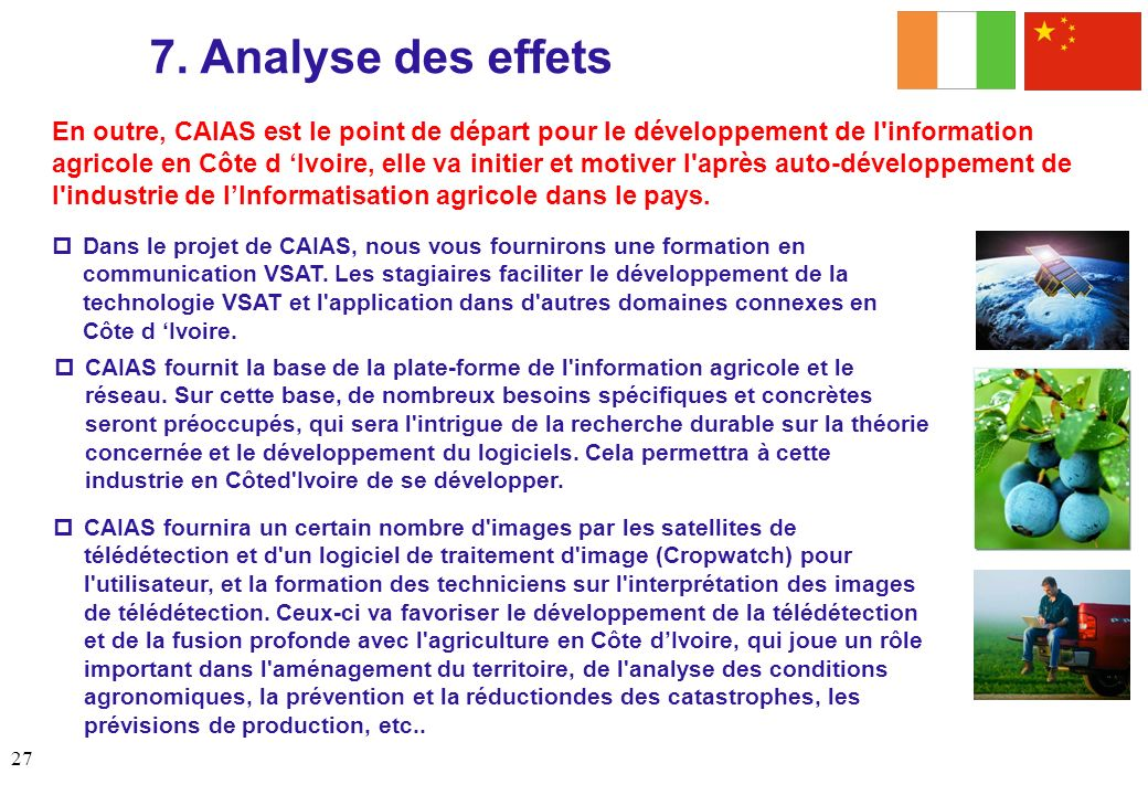 7. Analyse des effets Analysis (cont'd)