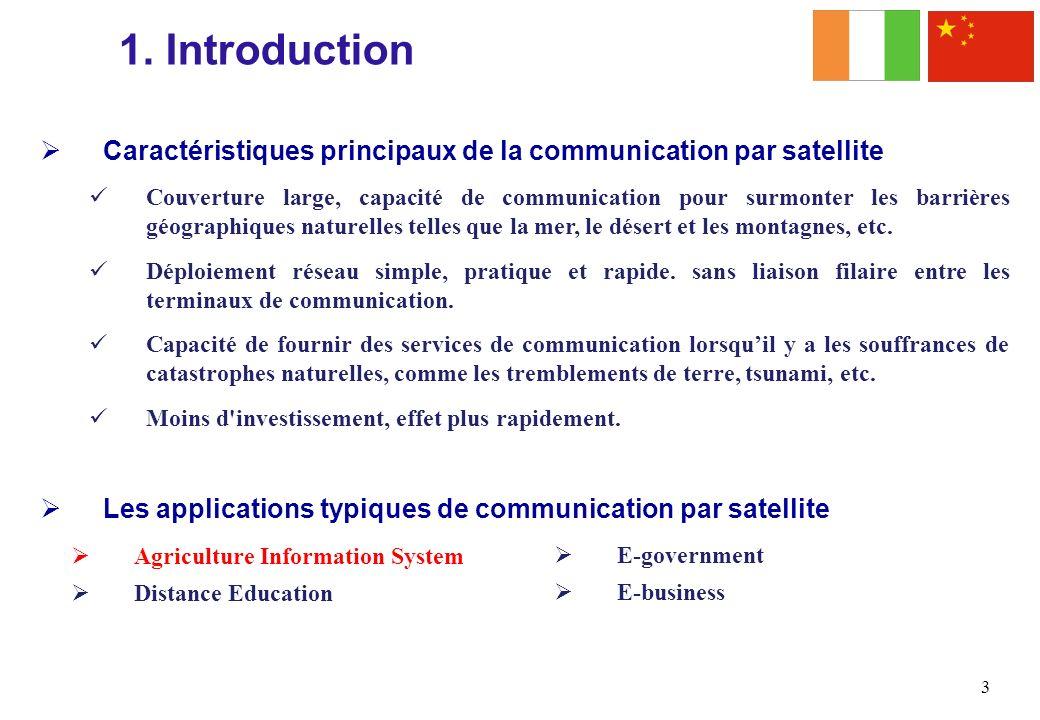 1. Introduction Caractéristiques principaux de la communication par satellite.