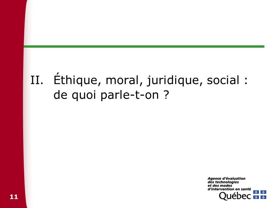 Éthique, moral, juridique, social : de quoi parle-t-on