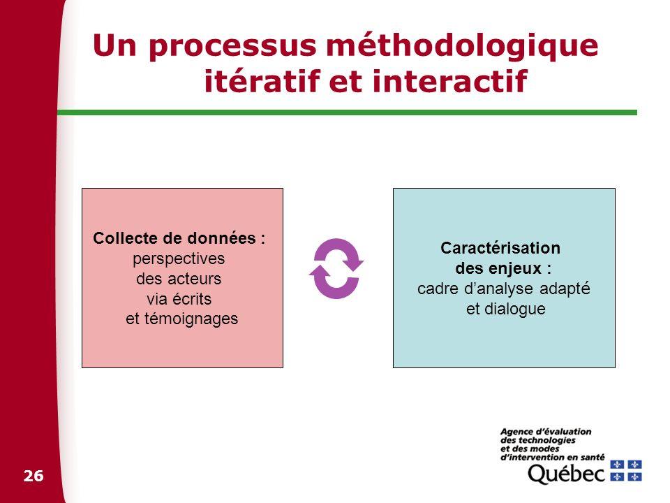 Un processus méthodologique itératif et interactif