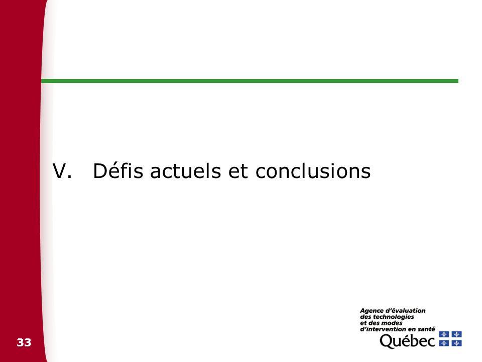 Défis actuels et conclusions