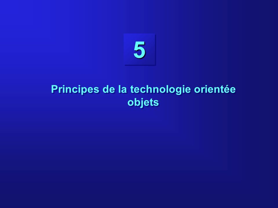 Principes de la technologie orientée objets