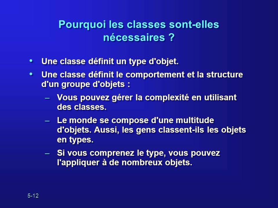 Pourquoi les classes sont-elles nécessaires
