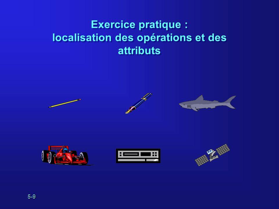 Exercice pratique : localisation des opérations et des attributs