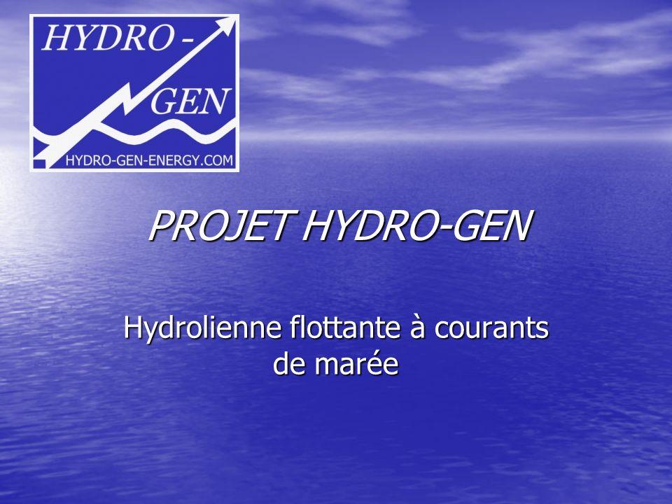 Hydrolienne flottante à courants de marée
