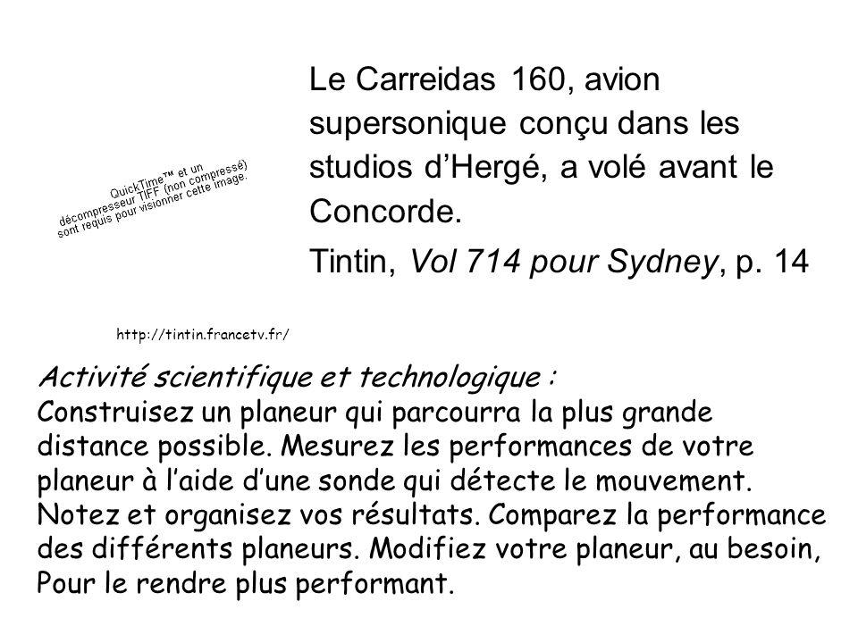 supersonique conçu dans les studios d'Hergé, a volé avant le Concorde.