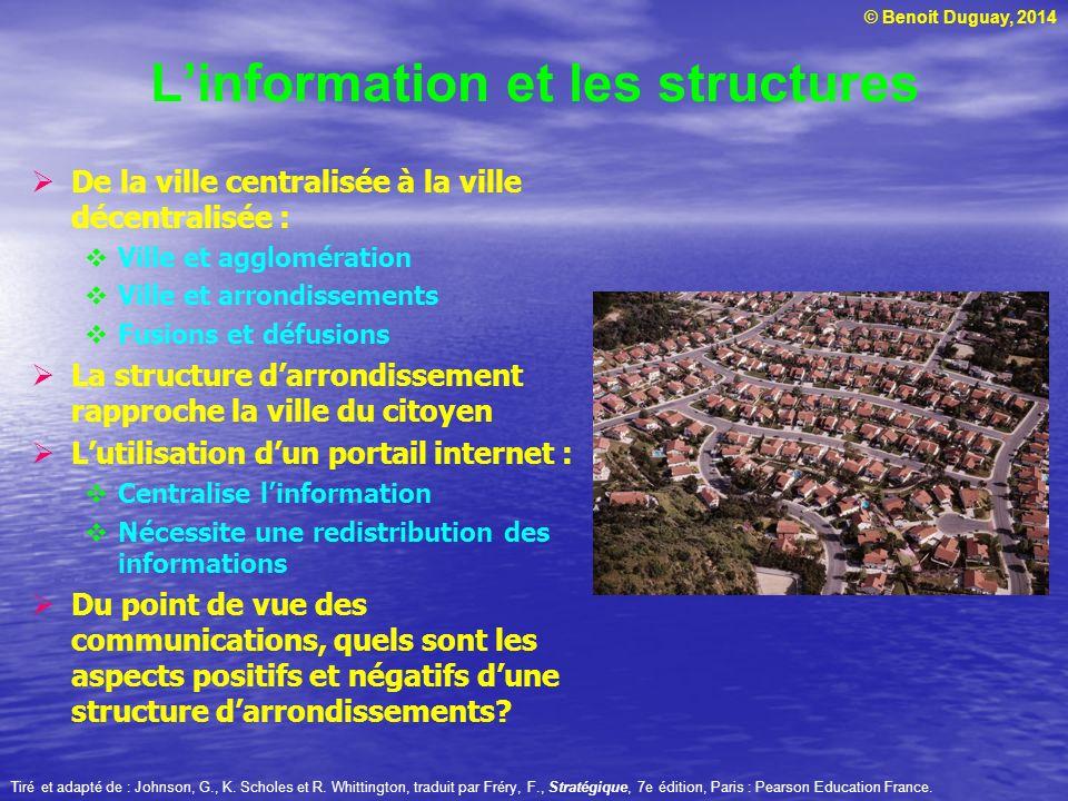 L'information et les structures
