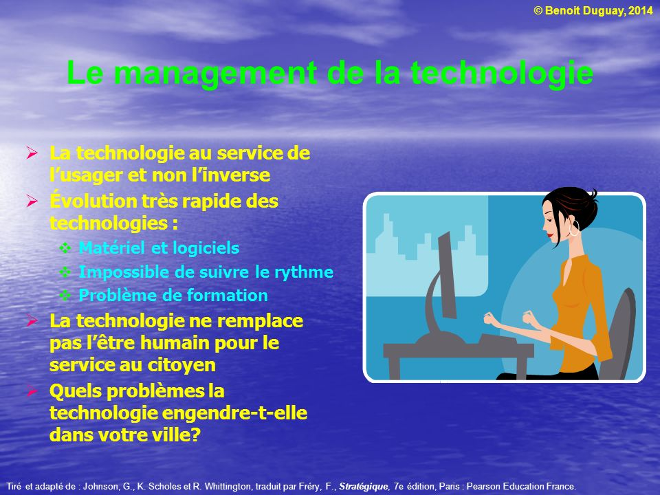 Le management de la technologie