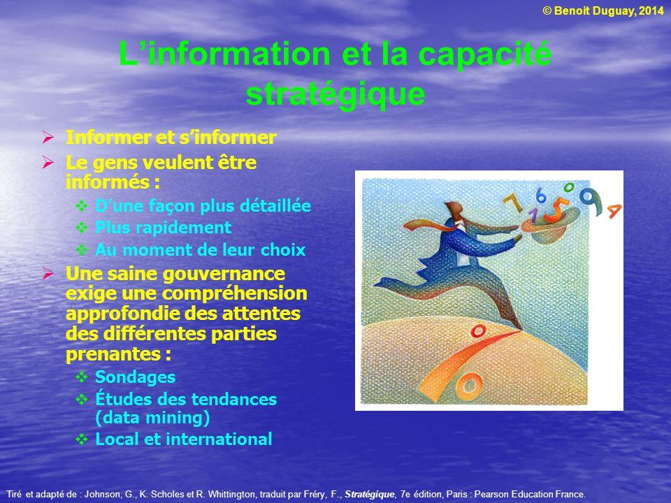 L'information et la capacité stratégique
