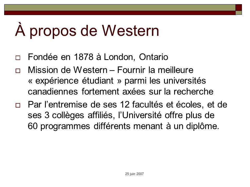À propos de Western Fondée en 1878 à London, Ontario