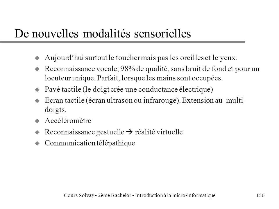 De nouvelles modalités sensorielles