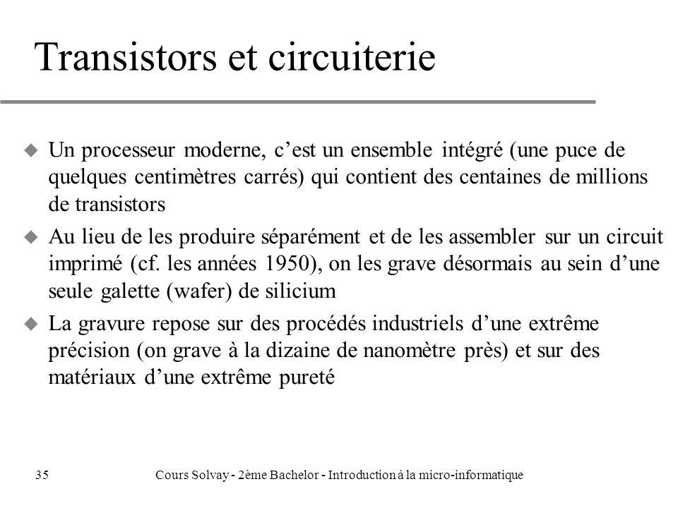 Transistors et circuiterie