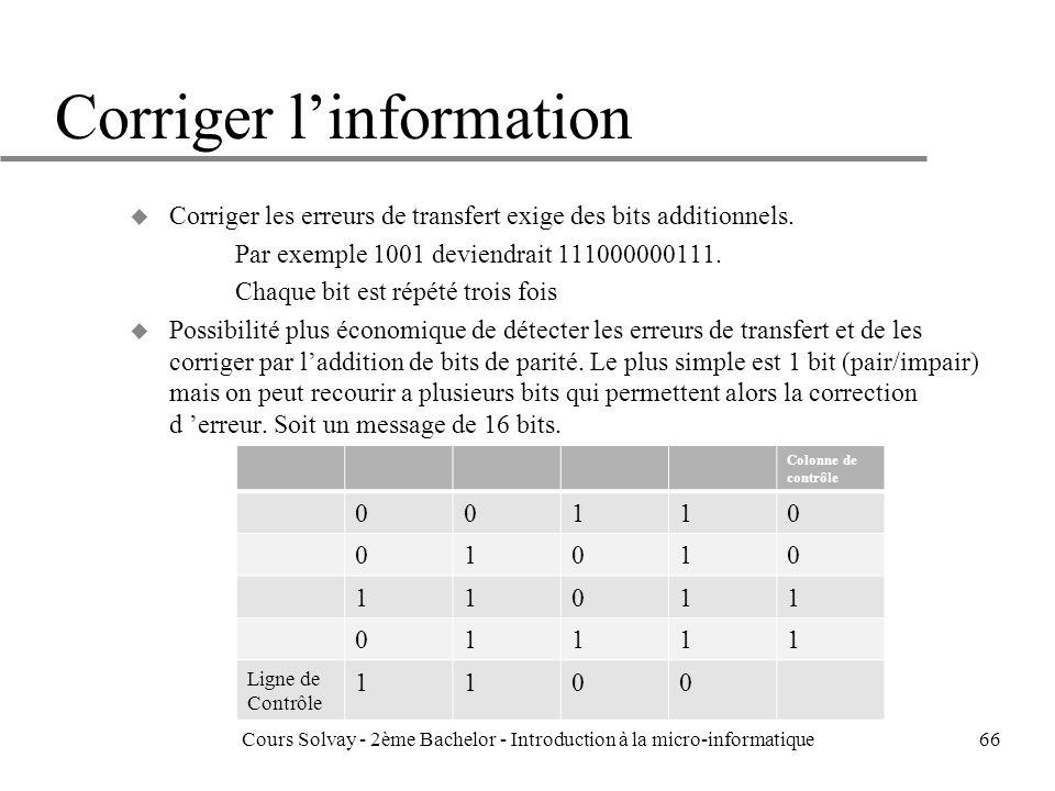 Corriger l'information