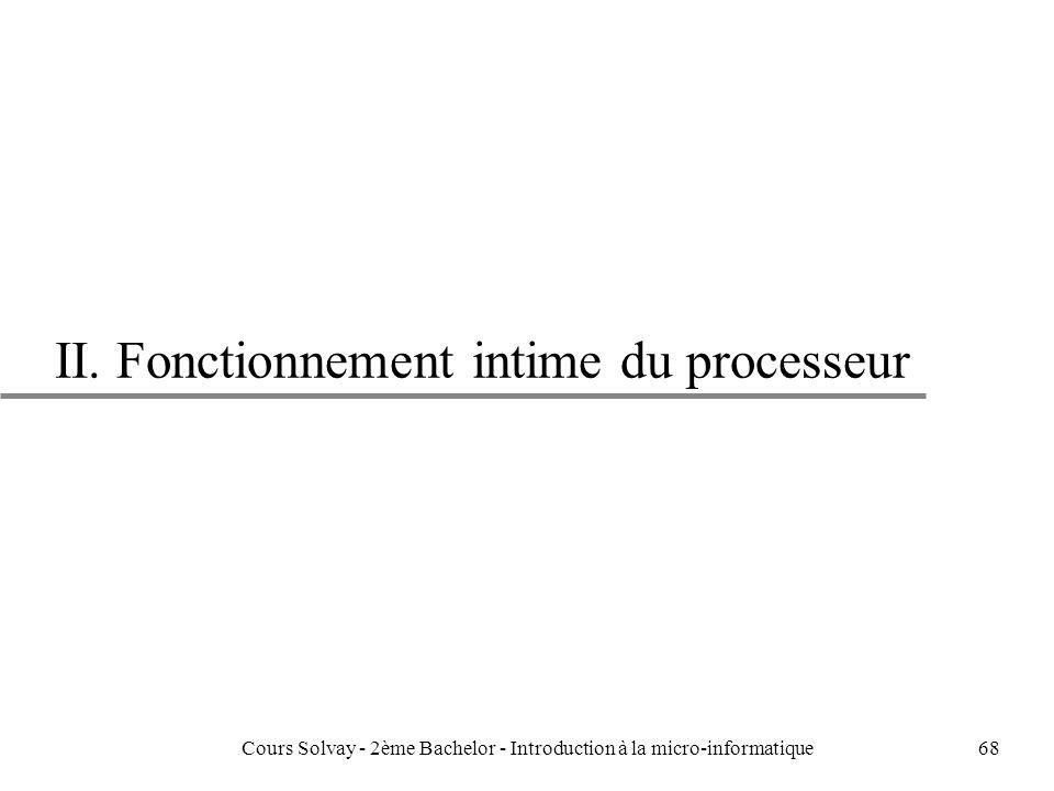 II. Fonctionnement intime du processeur