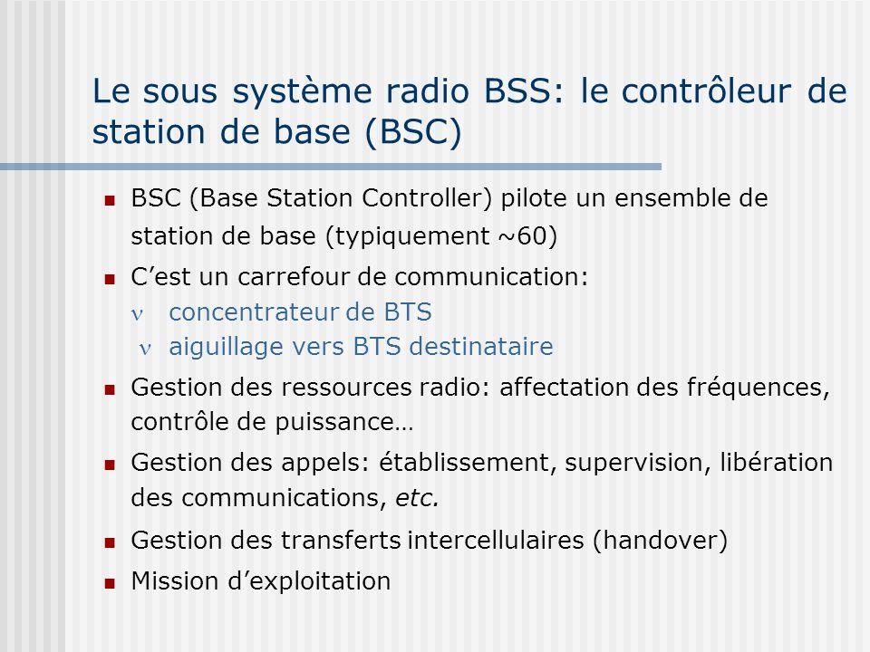 Le sous système radio BSS: le contrôleur de station de base (BSC)
