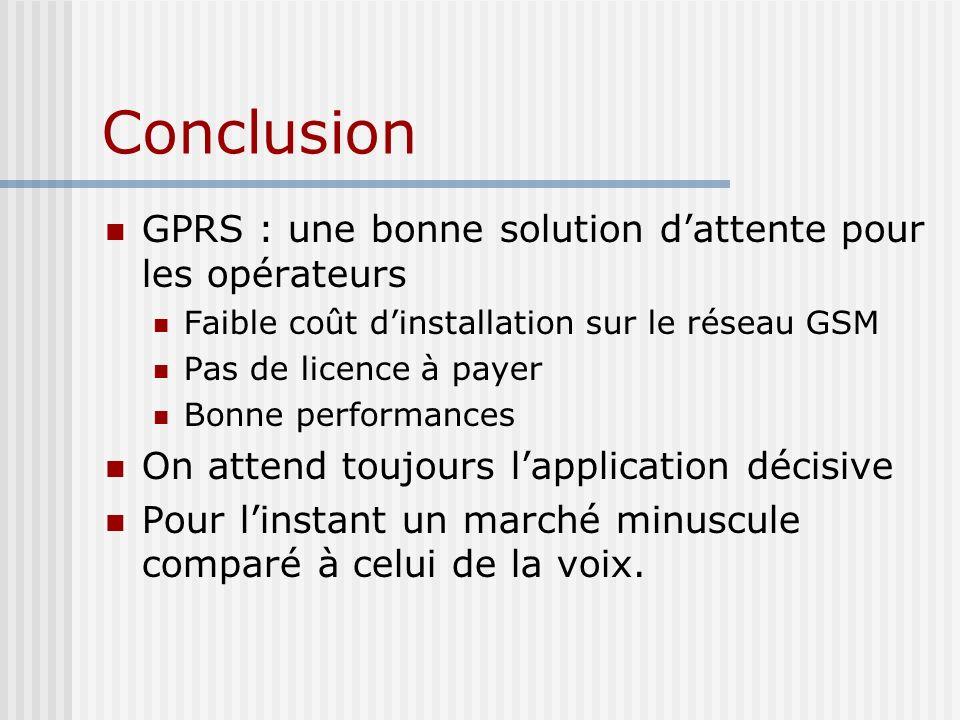 Conclusion GPRS : une bonne solution d'attente pour les opérateurs