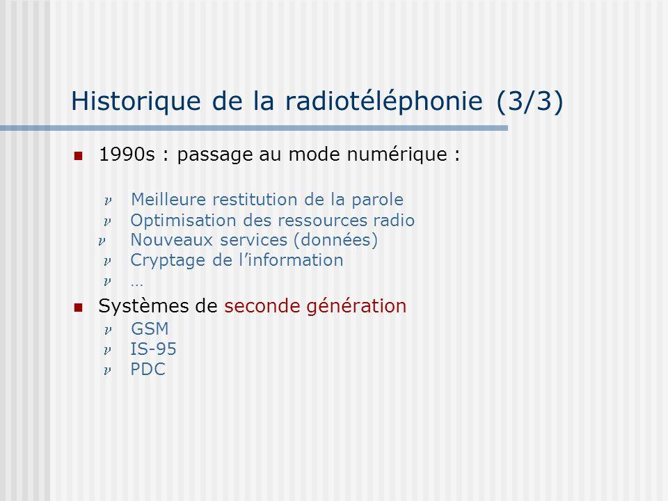 Historique de la radiotéléphonie (3/3)