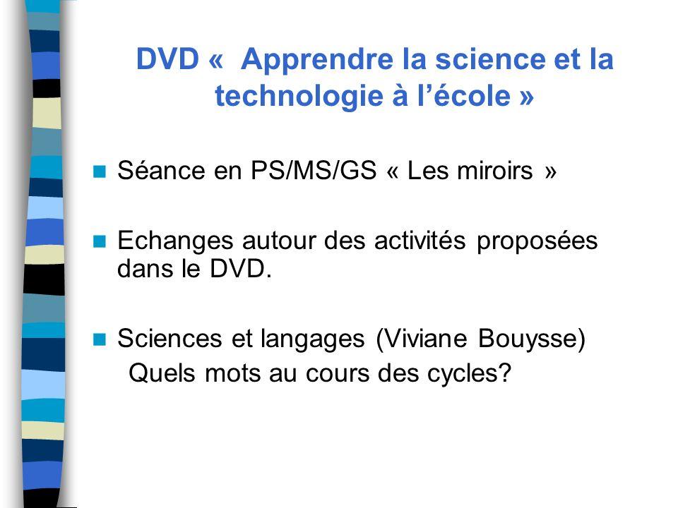 DVD « Apprendre la science et la technologie à l'école »