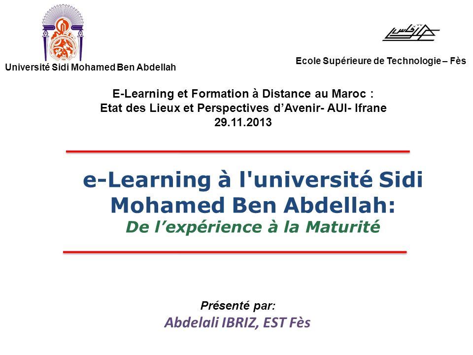 E learning l 39 universit sidi mohamed ben abdellah ppt - Formation a distance diplomante reconnue par l etat ...