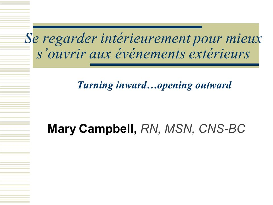 Mary Campbell, RN, MSN, CNS-BC