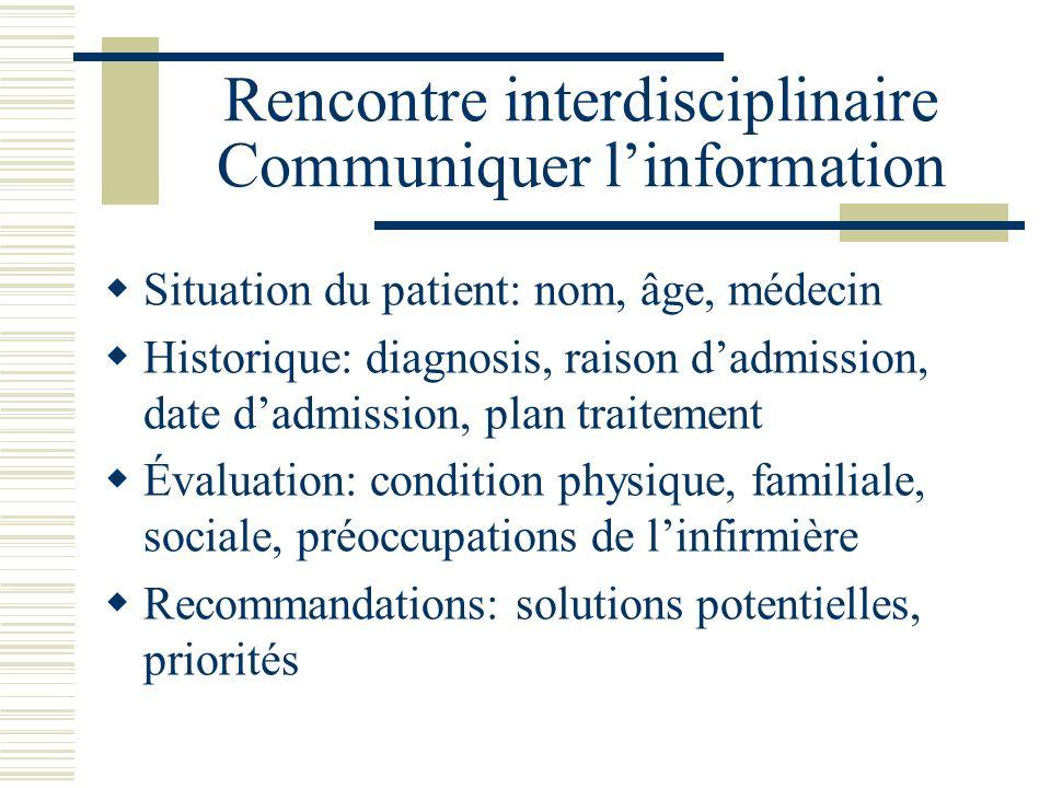 Rencontre interdisciplinaire Communiquer l'information