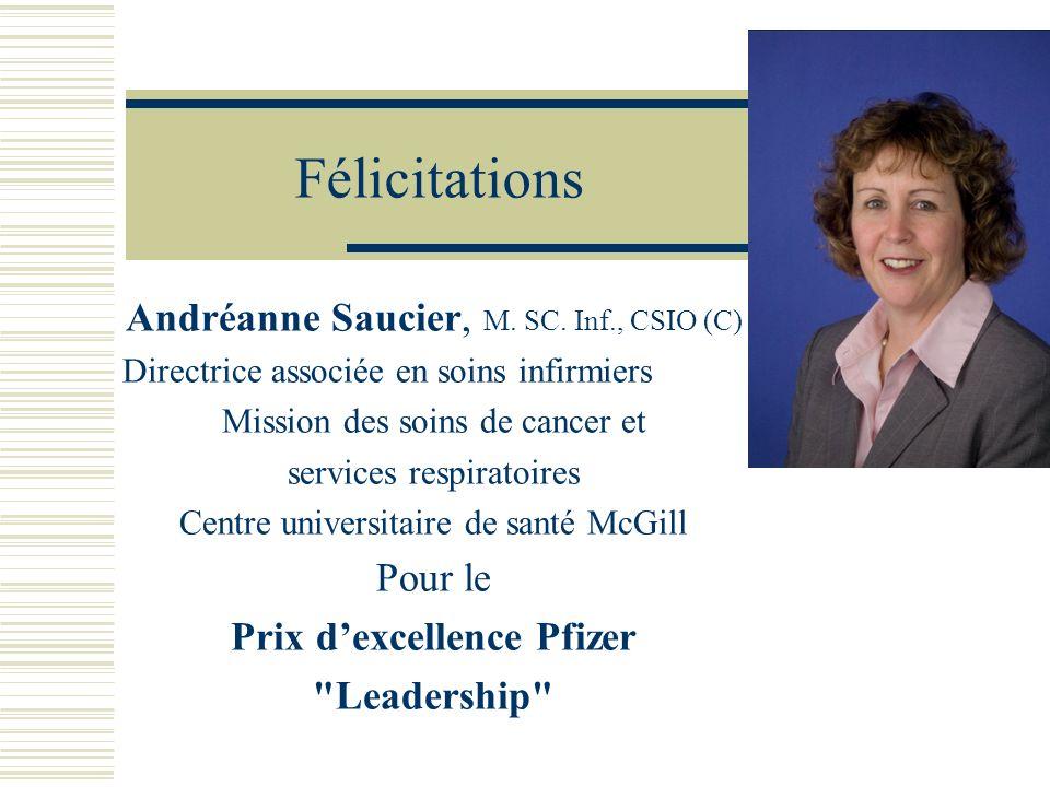 Félicitations Andréanne Saucier, M. SC. Inf., CSIO (C) Pour le