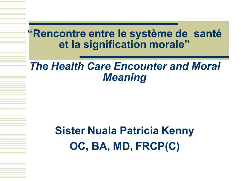 Sister Nuala Patricia Kenny OC, BA, MD, FRCP(C)