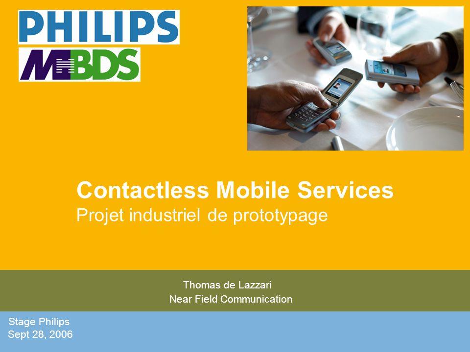 Contactless Mobile Services Projet industriel de prototypage