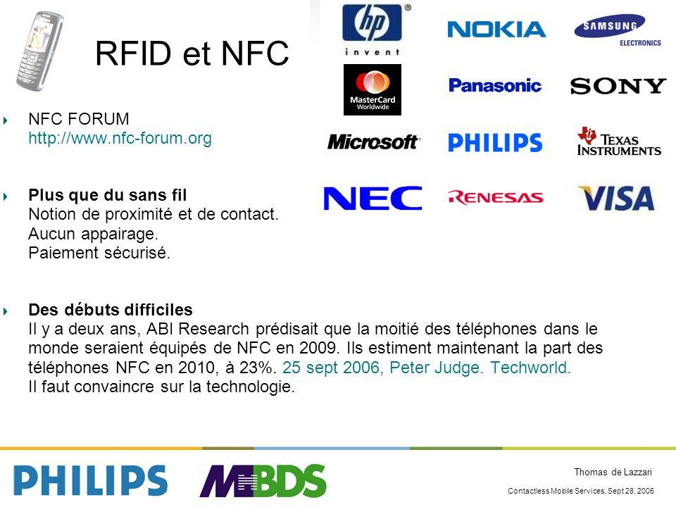 RFID et NFC NFC FORUM http://www.nfc-forum.org