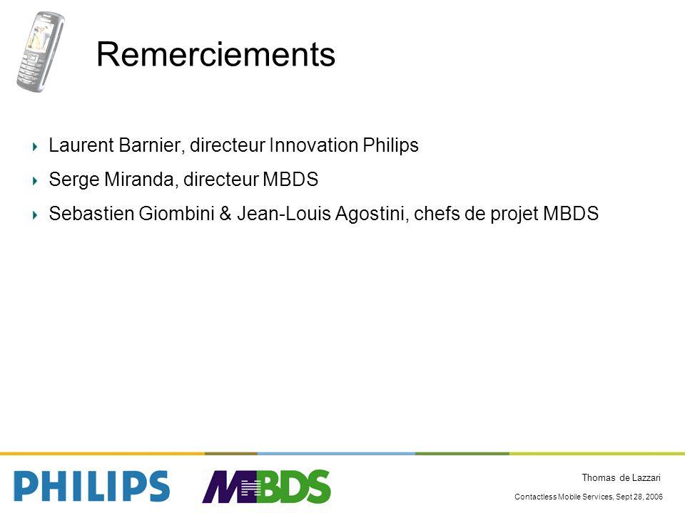 Remerciements Laurent Barnier, directeur Innovation Philips