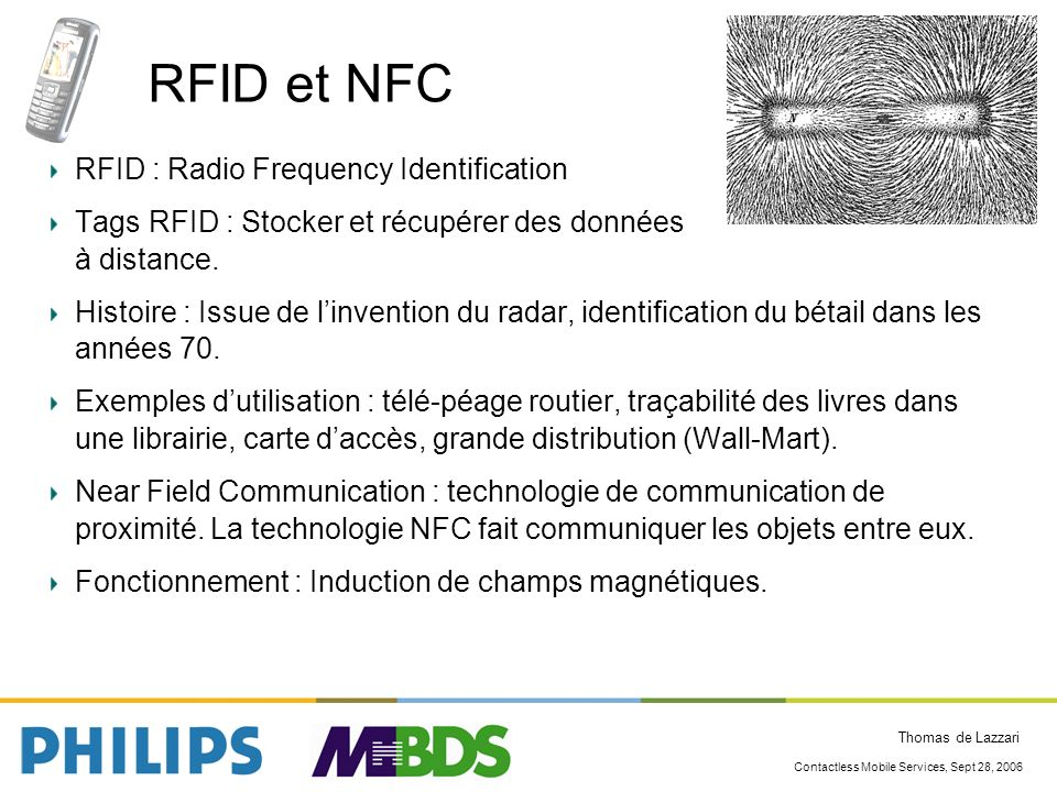 RFID et NFC RFID : Radio Frequency Identification