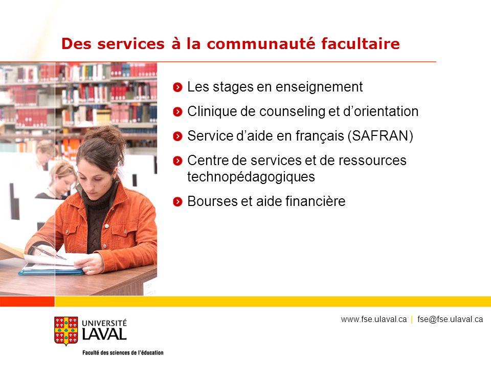 Des services à la communauté facultaire