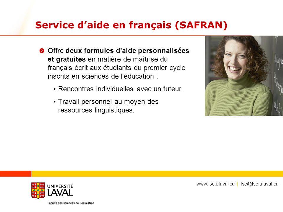 Service d'aide en français (SAFRAN)