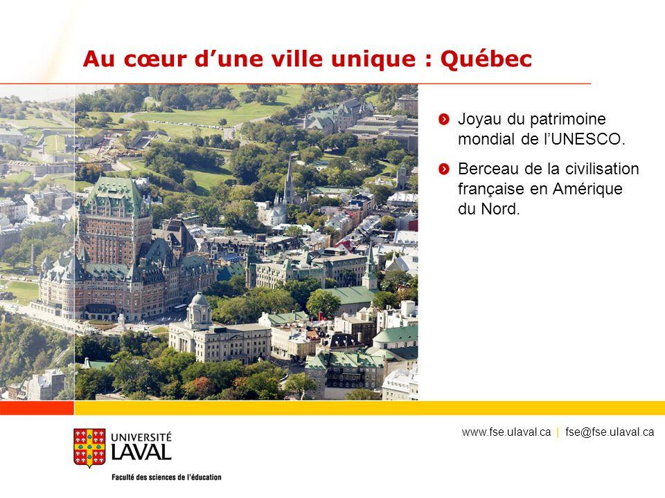 Au cœur d'une ville unique : Québec