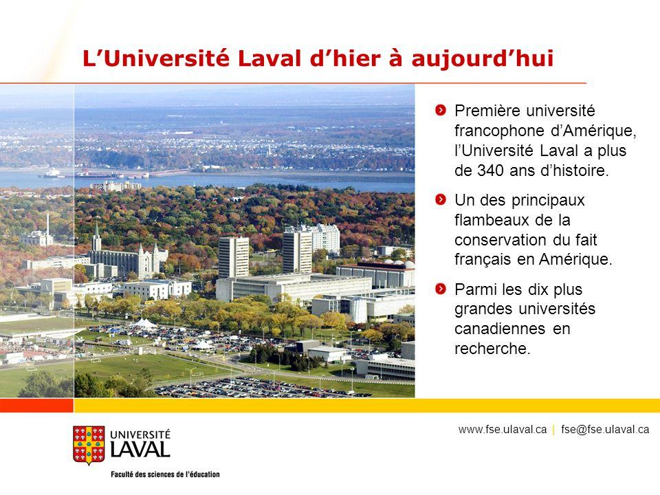 L'Université Laval d'hier à aujourd'hui