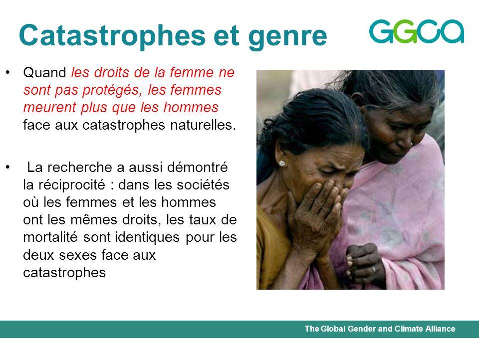 Catastrophes et genre Quand les droits de la femme ne sont pas protégés, les femmes meurent plus que les hommes face aux catastrophes naturelles.