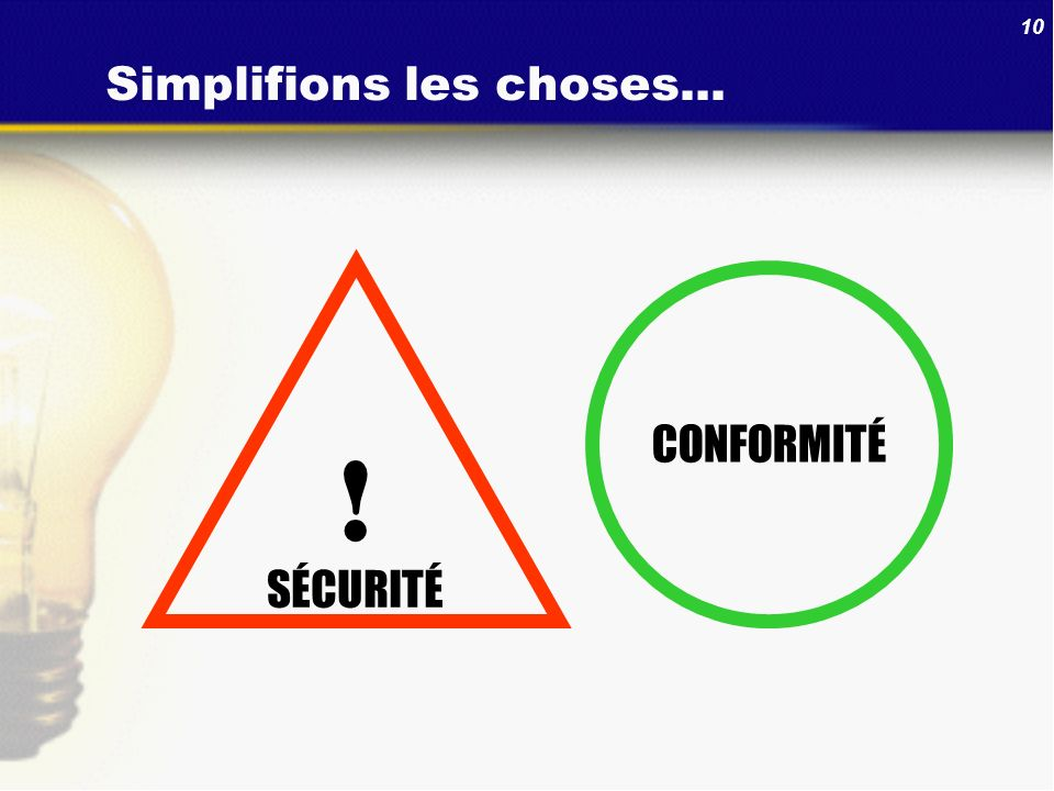 Simplifions les choses...