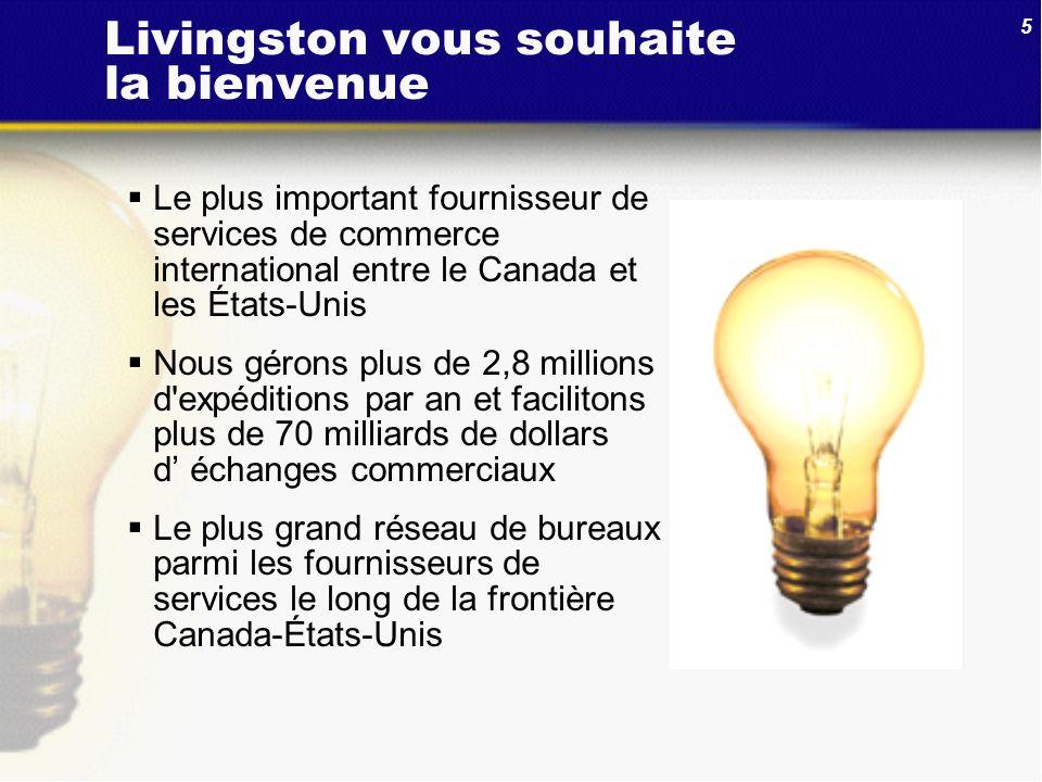 Livingston vous souhaite la bienvenue