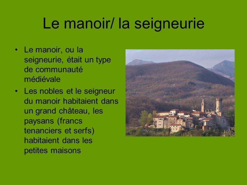 Le manoir/ la seigneurie