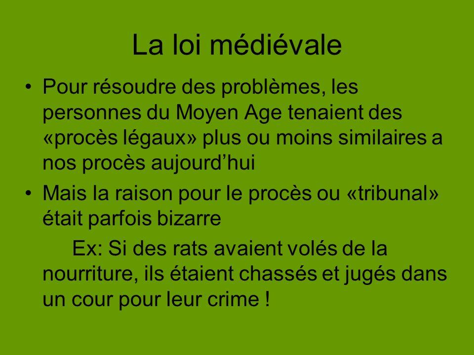 La loi médiévale