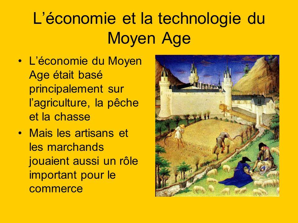 L'économie et la technologie du Moyen Age