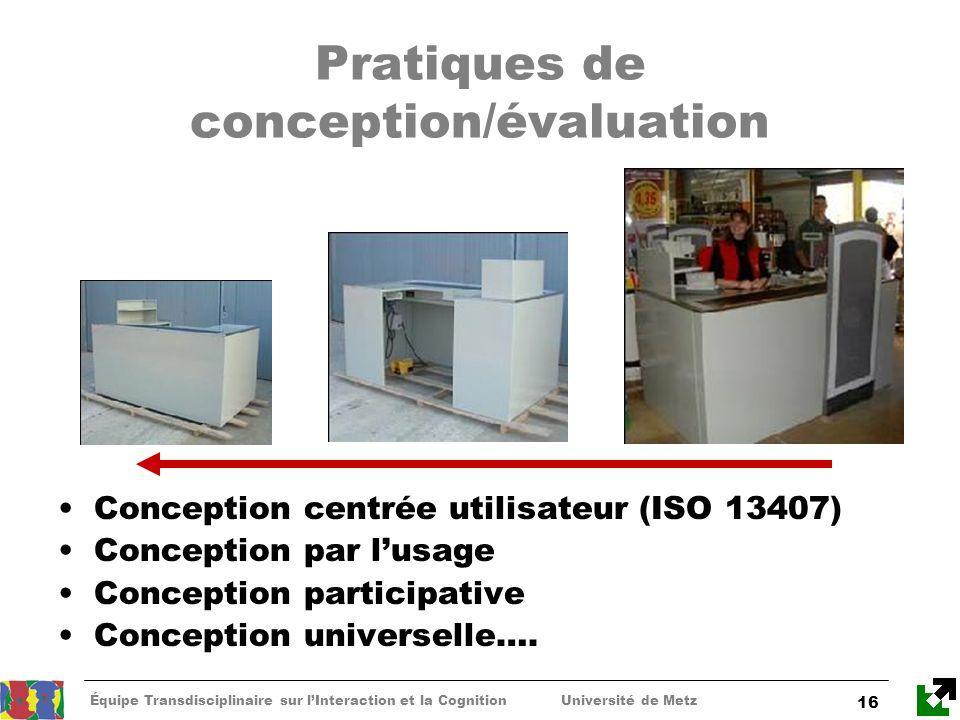 Pratiques de conception/évaluation