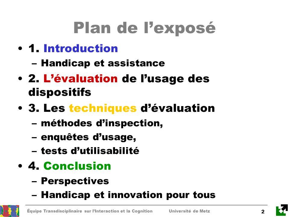 Plan de l'exposé 1. Introduction
