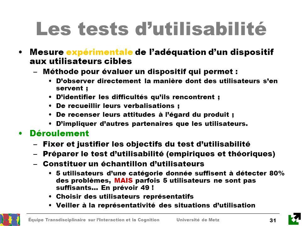 Les tests d'utilisabilité