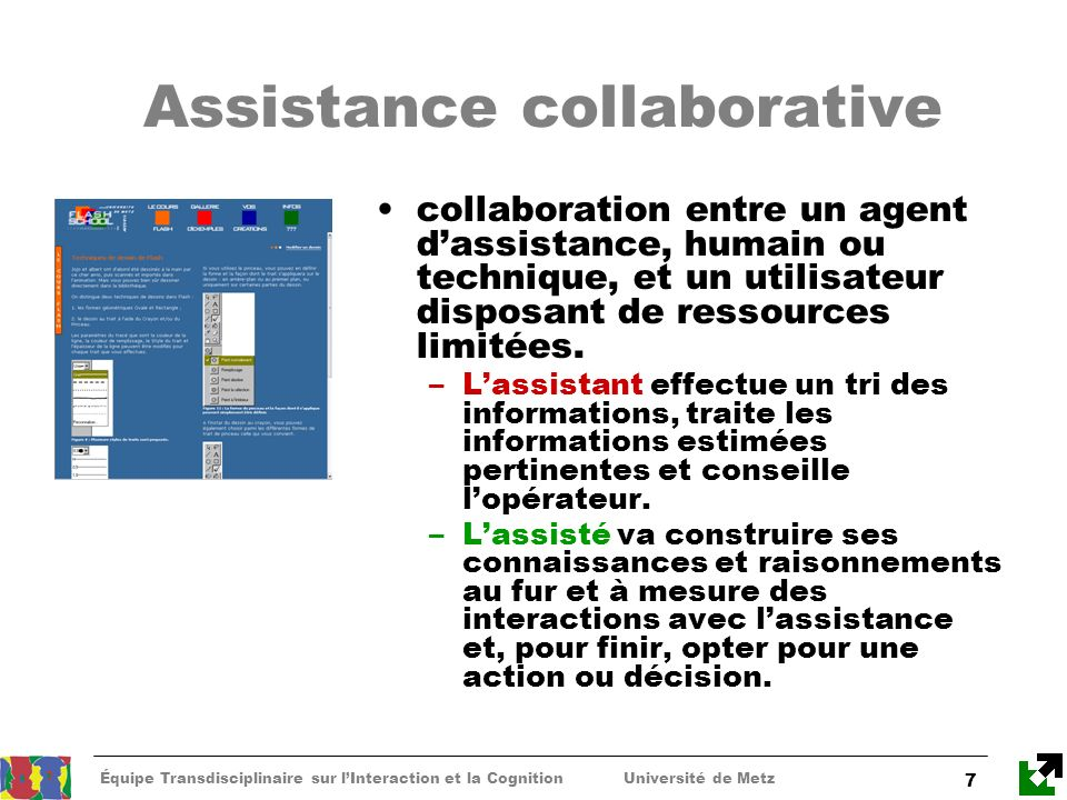 Assistance collaborative