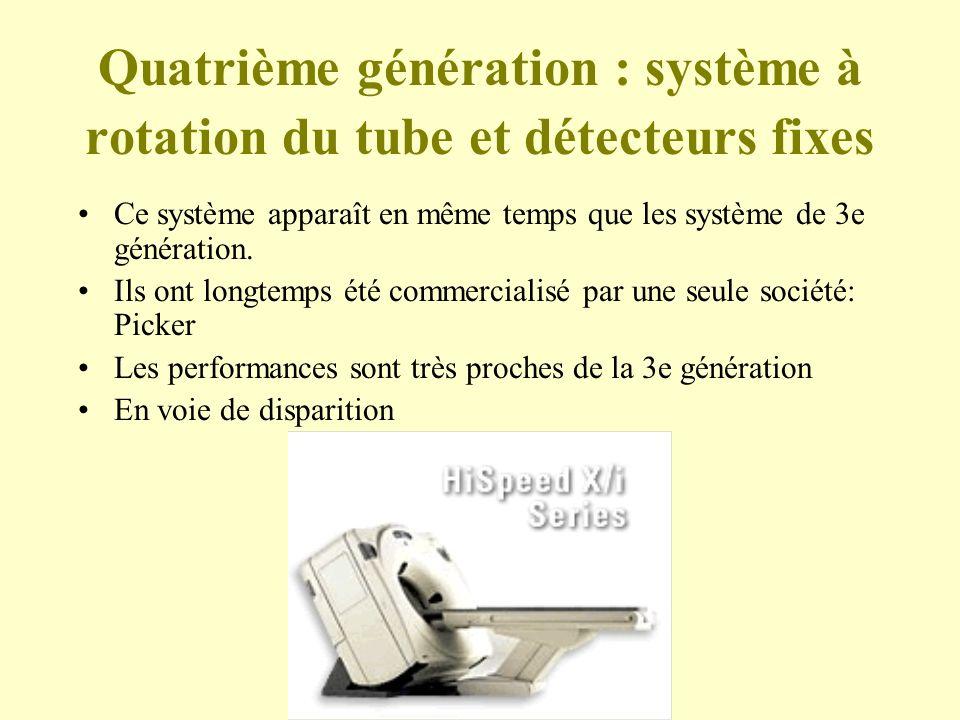 Quatrième génération : système à rotation du tube et détecteurs fixes