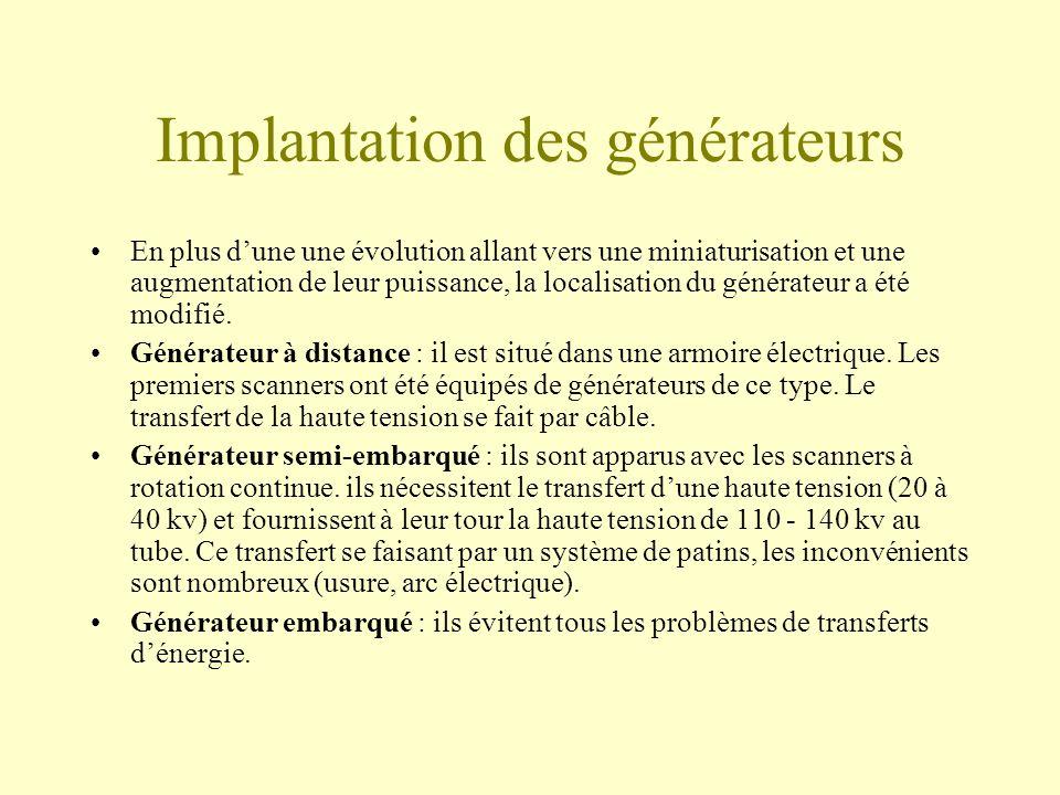 Implantation des générateurs