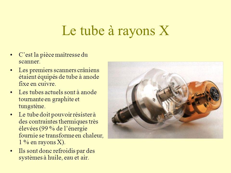 Le tube à rayons X C'est la pièce maîtresse du scanner.